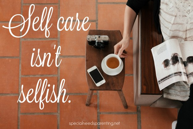 self-care isn't selfish - Shannon Dingle for Not Alone