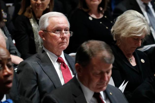 Cory Gardner State Funeral Held For George H.W. Bush At The Washington National Cathedral