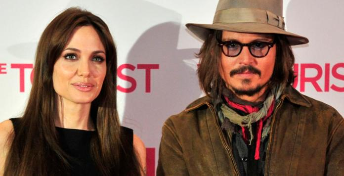 (From L) American actress Angelina Jolie and U
