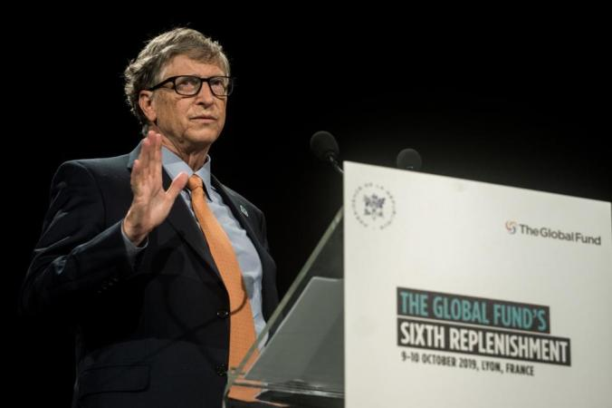 Bill Gates Delivers A Speech At The Fundraising Day At The Sixth World Fund Conference In Lyon