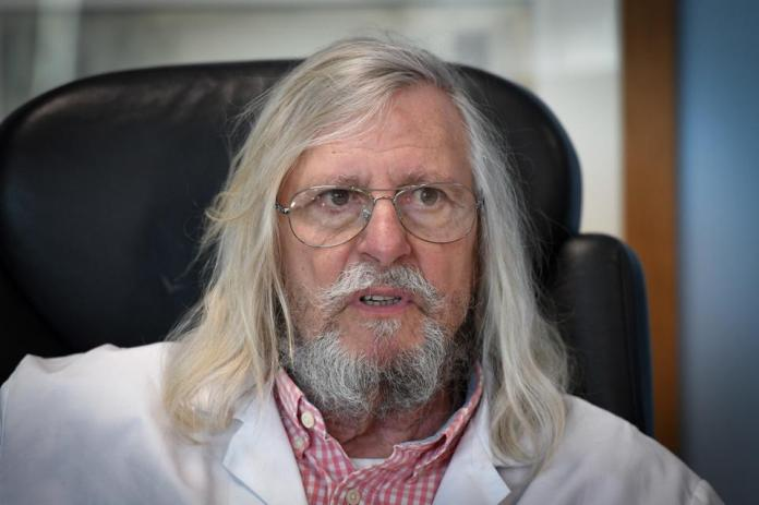 French professor Didier Raoult, biologist and professor of microbiology and director of the IHU, Marseille, France.