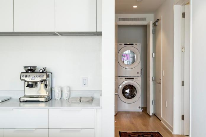 Kitchen and laundry area