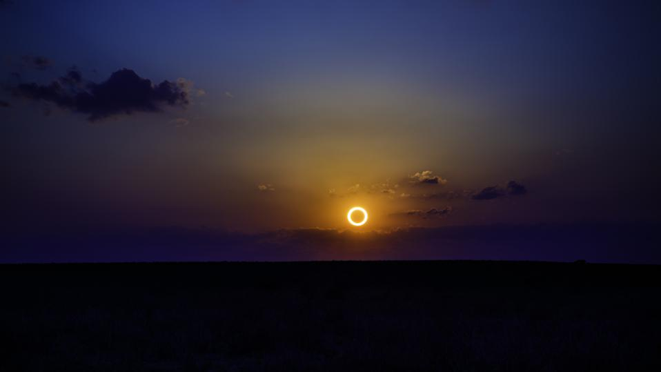 Annular Eclipse over New Mexico, May 20, 2012