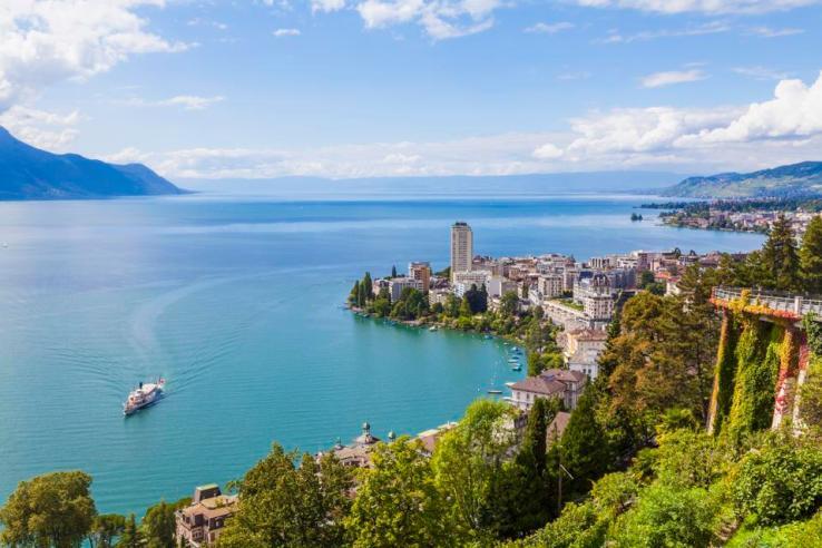 Suisse, Lac Léman, Montreux