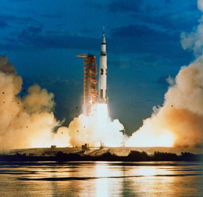 The very first launch from NASA's Cape Kennedy space center was of the Apollo 4 mission.