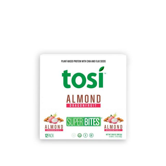 Tosi's SuperBites are made with nuts, seeds and fruits.