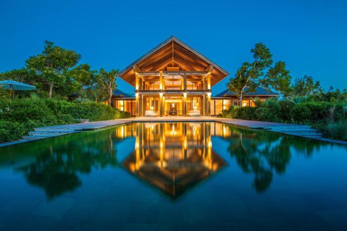 Villa Point House en Parrot Cay en Turks & Caicos