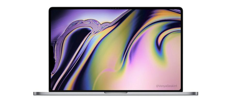 16-Inch MacBook Pro render by Ben Geskin.