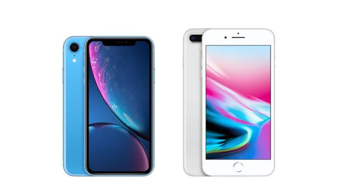 Image result for xr vs iphone 8 plus