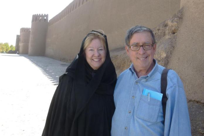 Ellen Boynton and Courtenay Welton on a trip to Iran in 2015. The couple learned the importance of medical evacuation coverage.