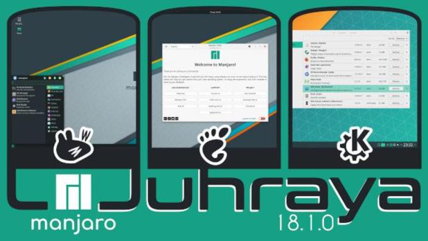 Manjaro 18.1 ships with 3 officially supported desktop environments