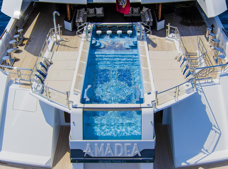 AMADEA's distinctive pool deck.