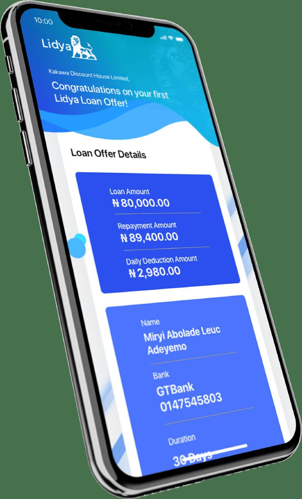 Lidya is a digital SME lender launched in Nigeria.