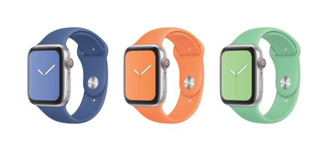 Some of Apple's Spring Watch bands.