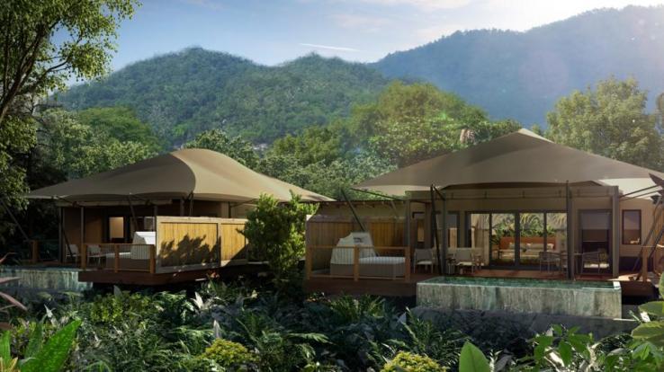 Camp de tentes Nayara au Costa Rica.