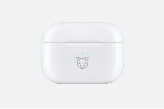 AirPods Pro with pig animoji