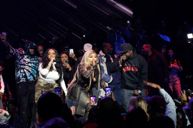 January 30, 2020, Radio City Music Hall. Lil Kim performs with Mobb Deep's Havoc in tribute to the late Prodigy at LOUD Records 25th Anniversary.