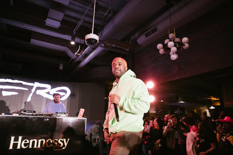 A$AP Ferg performs at first event for new liquor sponsor of the NBA.
