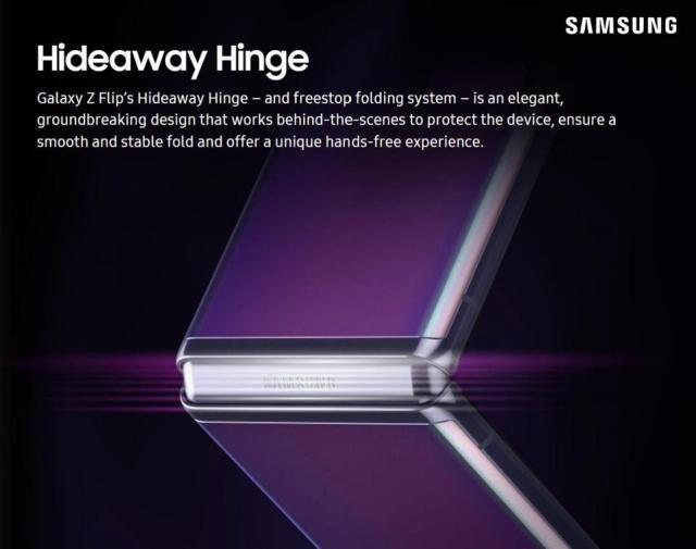 The Galaxy Z Flip's Hideaway Hinge.