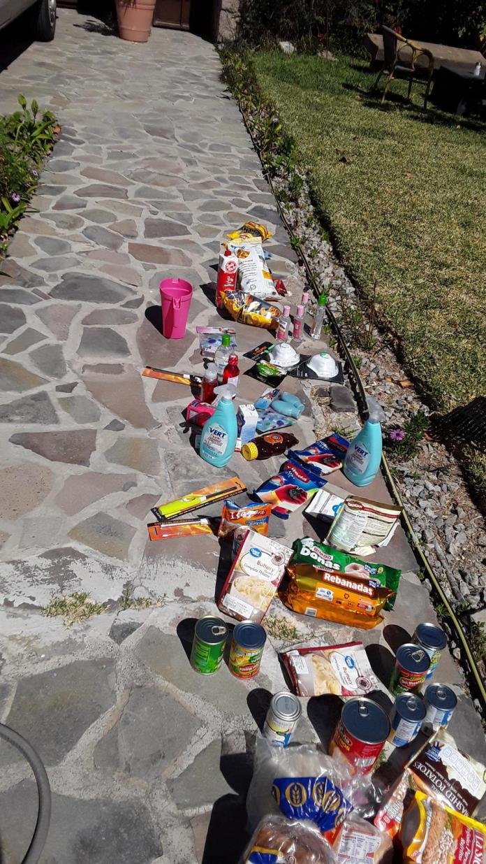 Disinfecting household items in the sun in Mexico