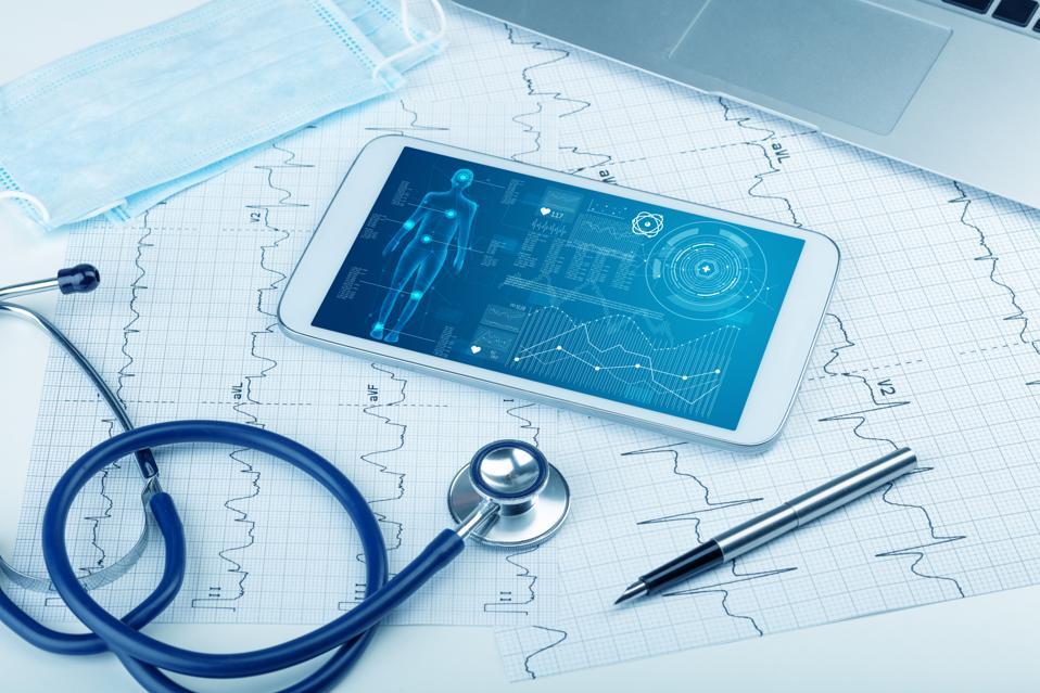 Full body medical screening software on tablet