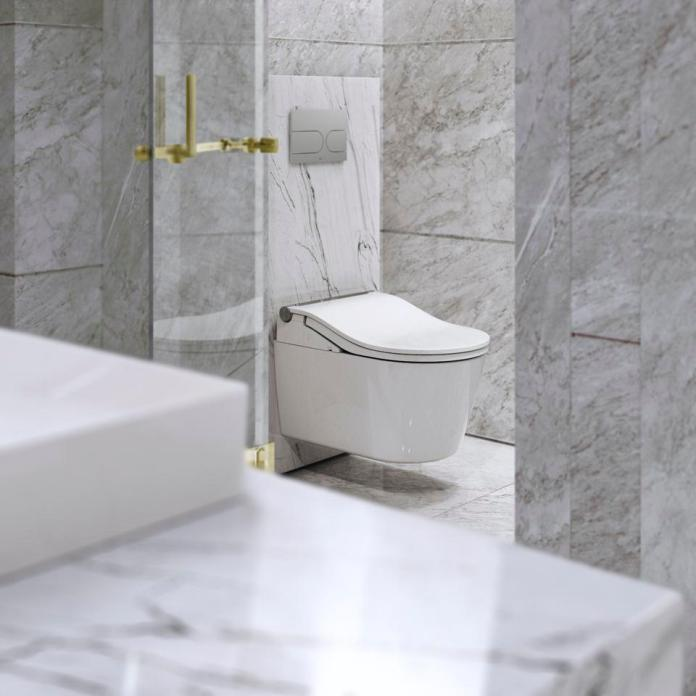 The WASHLET Wall-Hung Toilet by Toto