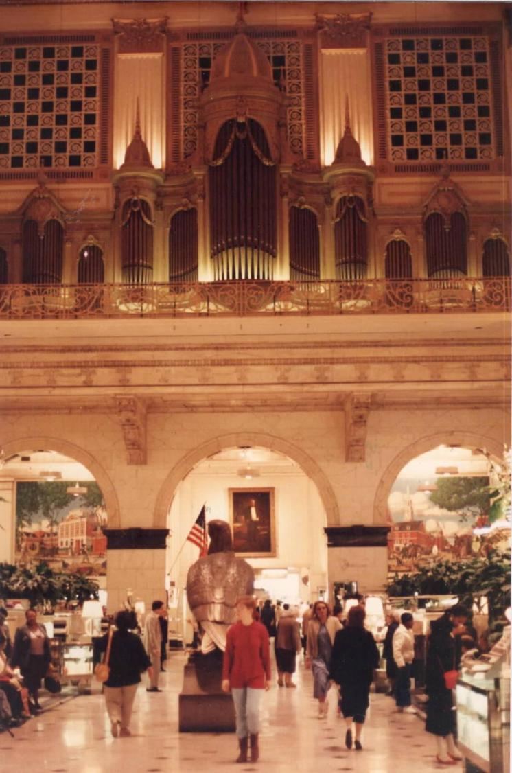 The John Wanamaker Center City store now operates as a Macy's. The store played a role during the September 28, 1918 influenza that swept Philadelphia and the world.