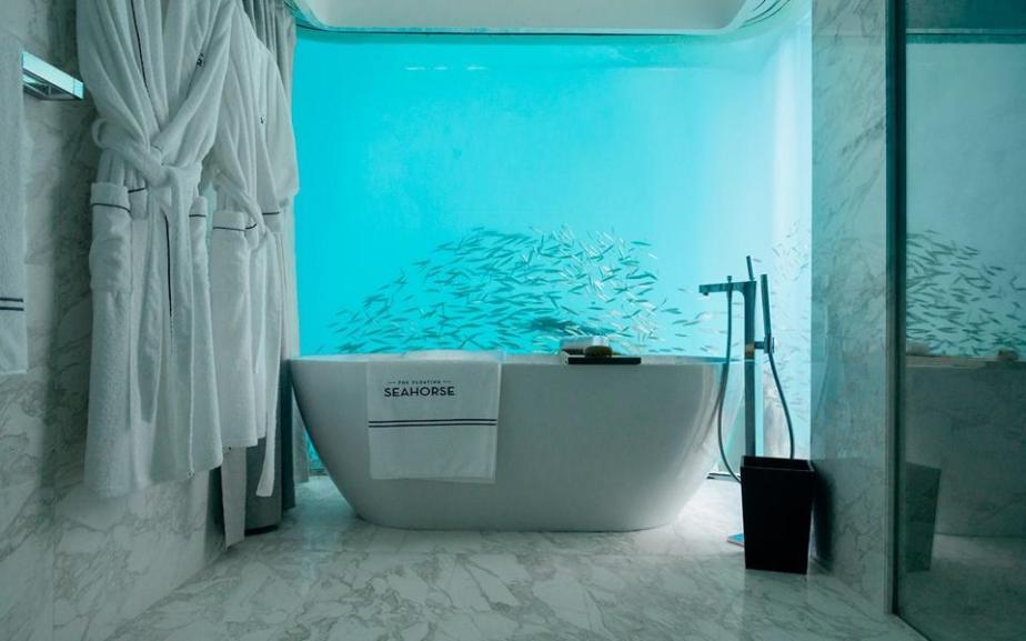 Floating Seahorse underwater bathroom