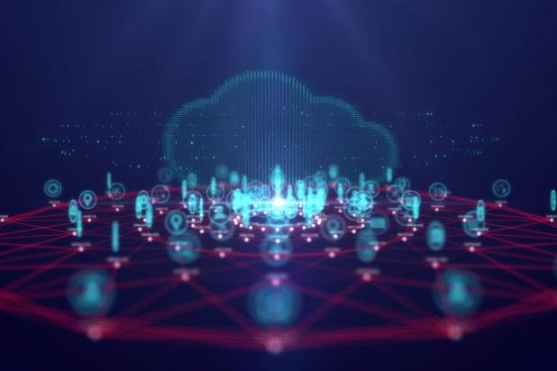 Cloud Computing: Cloud computing technology and internet of Things concept,Big data and connection technology