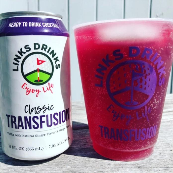 purple colored grape flavored cocktail in a can