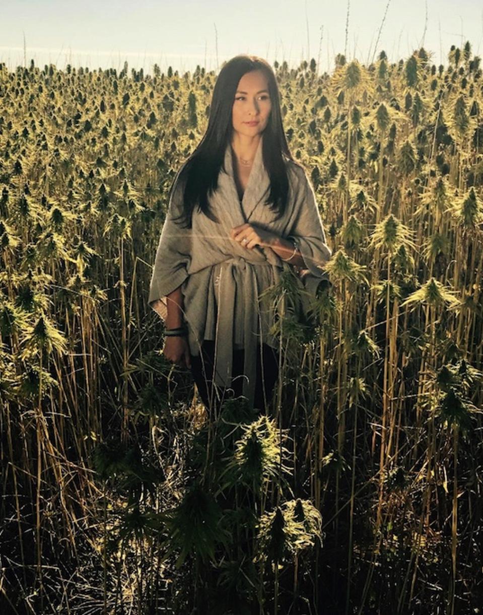 Dr. Jenelle Kim in the Hemp Fields in Canada