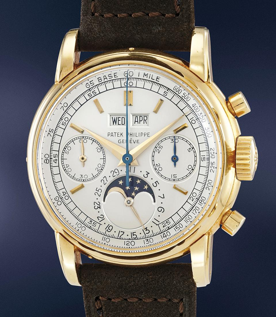 This Patek Philippe Ref. 2499 sold for $2,742,480 at a Phillips auction, a world record for a 2499 in yellow gold.