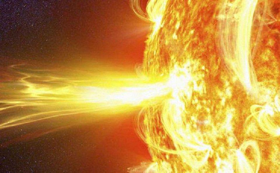 Solar flare as imaged by NASA's Solar Dynamics Observatory.