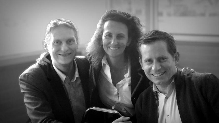 Orbite founders Gaume and Andrews with new CFO Sophie Stabile, formerly of Accor Hotels Group.