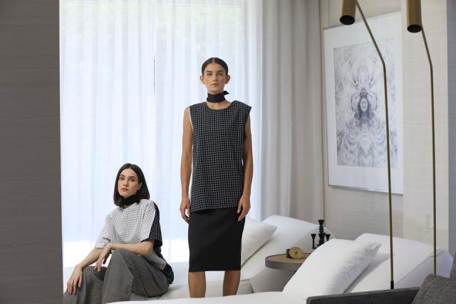 Modern and streamlined garments by New Mood Creative Director Dennis Lustico
