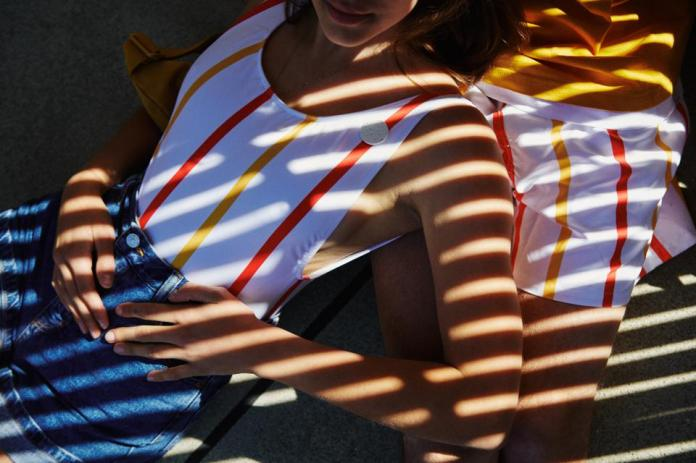Swimwear created with McDonald's straws and marine plastics