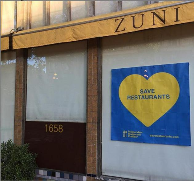 Cory Gardner Facade of currently shuttered Zuni Cafe.