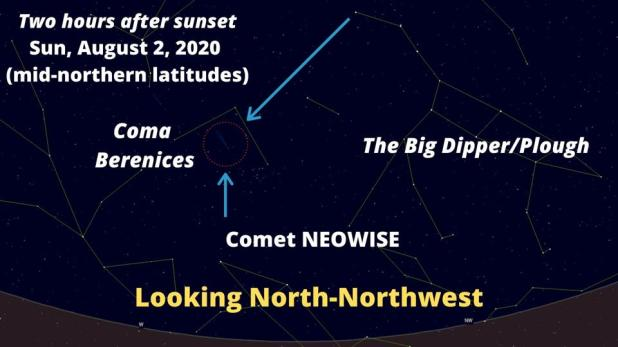How to do a comet search on Sunday, August 2, 2020