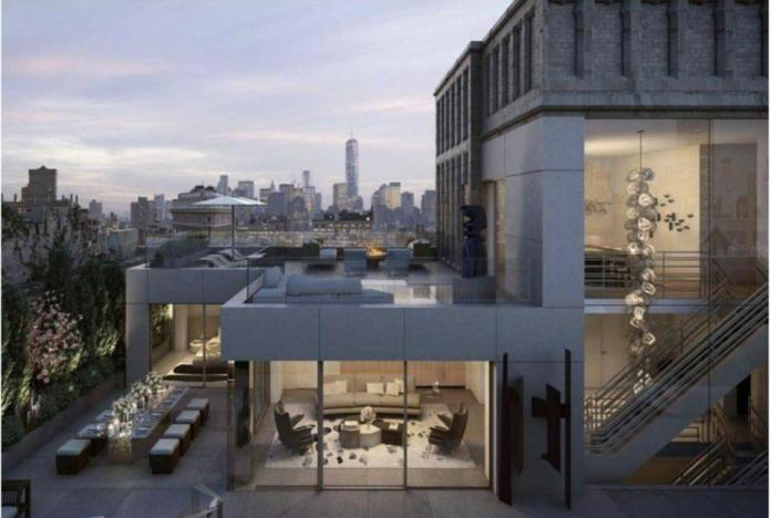 Rendering of the penthouse Bezos purchased last year
