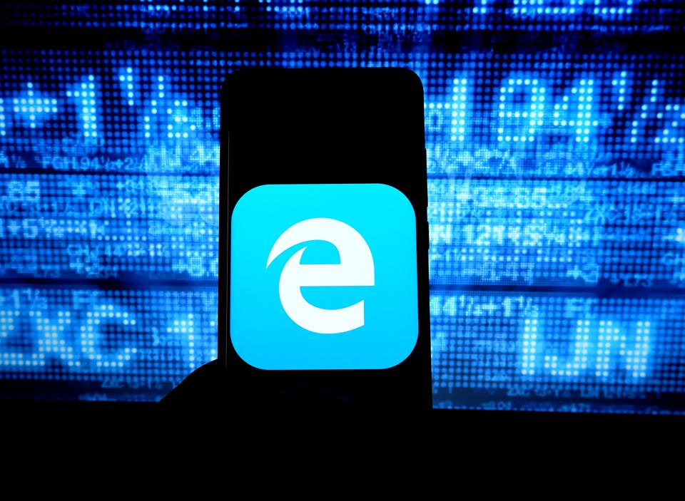 In this photo illustration a popular   web browser...
