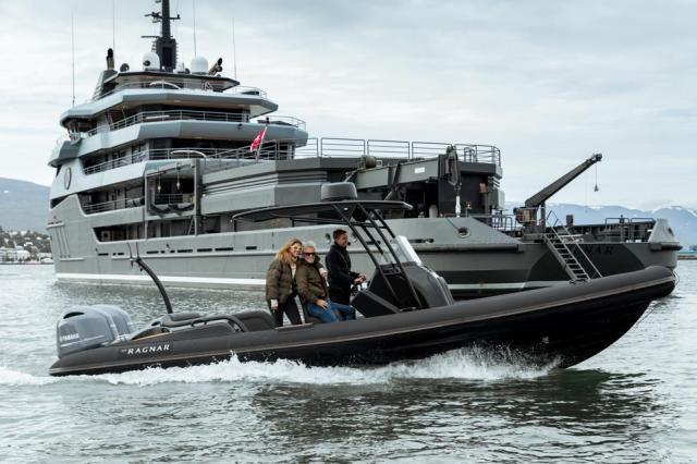 Ribeye tender on charter explorer yacht Ragnar