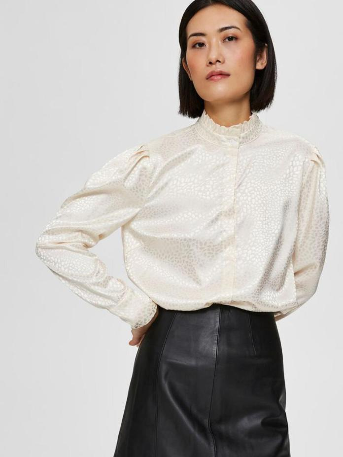 Ruffled Neck Shirt by Selected Femme: