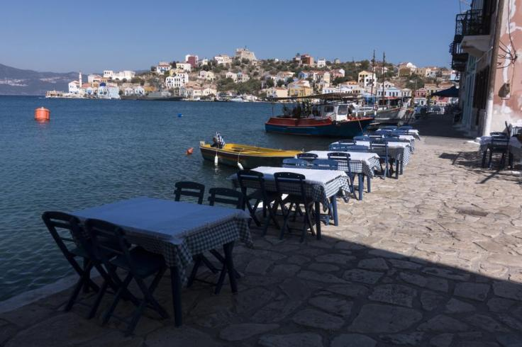 empty tables on Greek island amid Covid resurgence and new wave of travel bans EU Europe