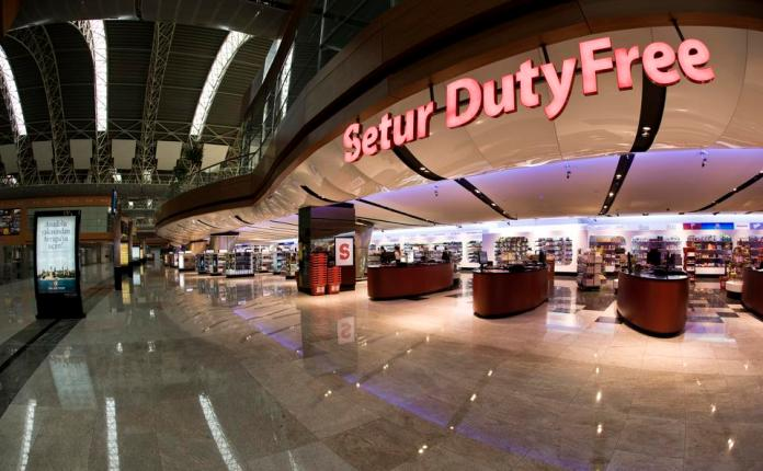 Setur Duty Free store in the international departure hall