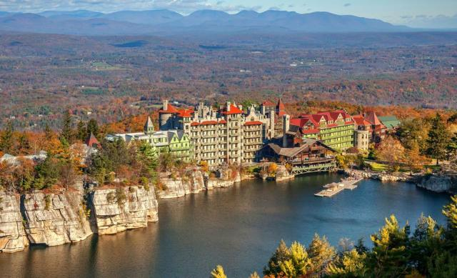 Mohonk Mountain House boasts breathtaking views and a wide variety of activities.