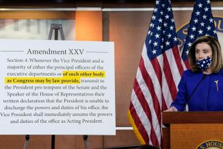 Pelosi Announces Bill To Create 25th Amendment Commission To OK A President's Capacity To Serve