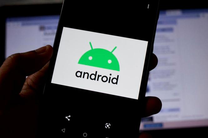 Android logo seen on a phone as new ransomware threat reported in wild
