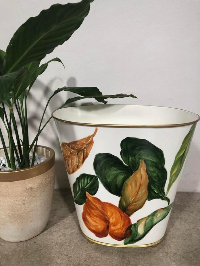 Autumn Leaves Bin by Art of Gold at ArteFino Reimagined