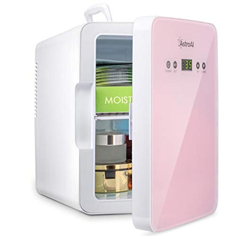 AstroAI Mini Fridge 6 Liter/8 Can Skincare Fridge for Bedroom