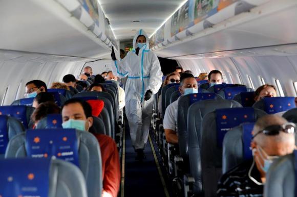 ISRAEL-TEL AVIV-COVID-19-FLIGHT